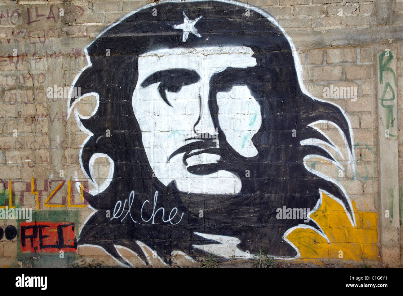 Che-Guevara-Graffiti-Oaxaca-Stadt, Mexiko Stockbild