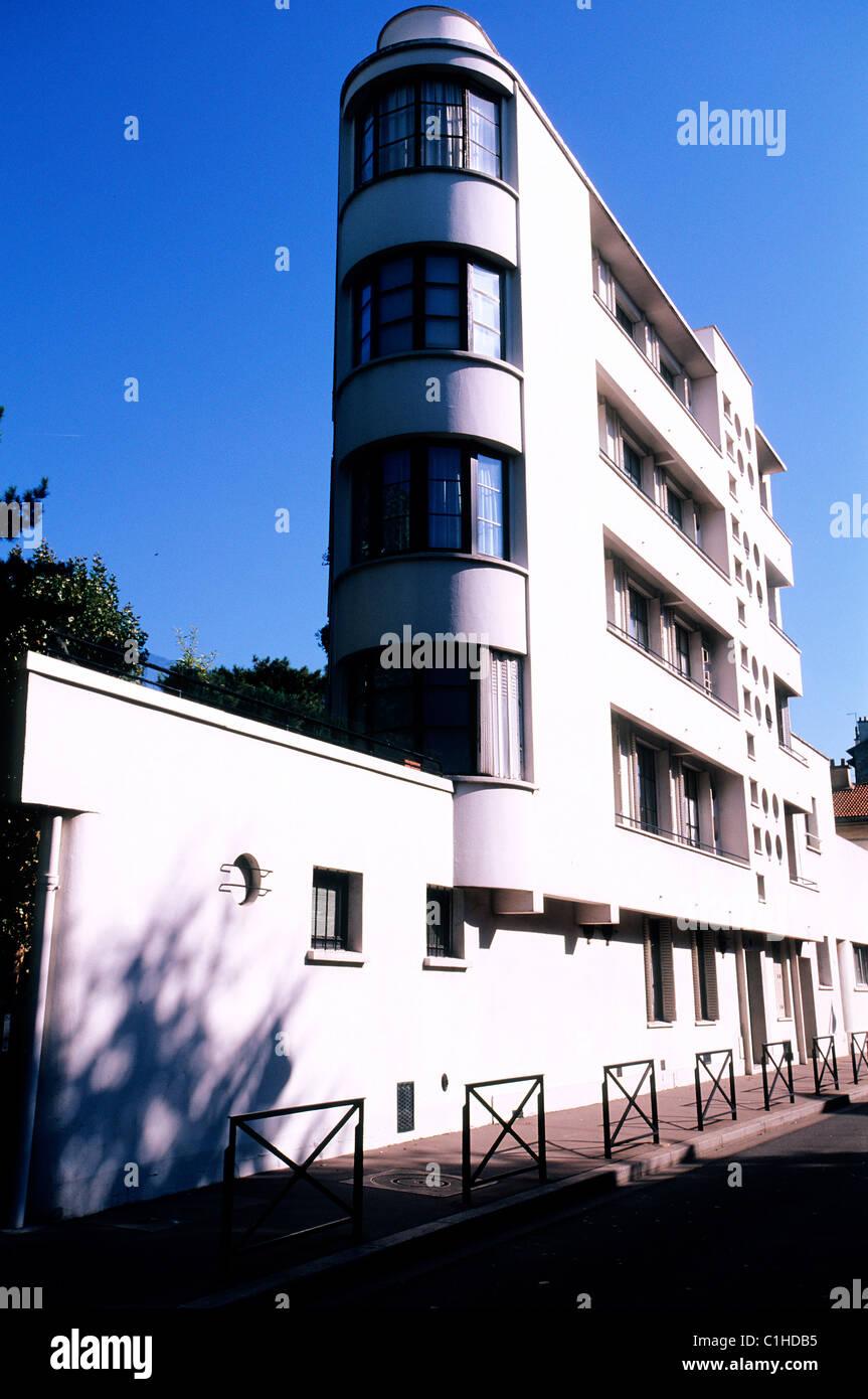 Frankreich, Hauts de Seine, Boulogne, Bauten der dreißiger Jahre in der Straße Denfert-rochereau Stockbild