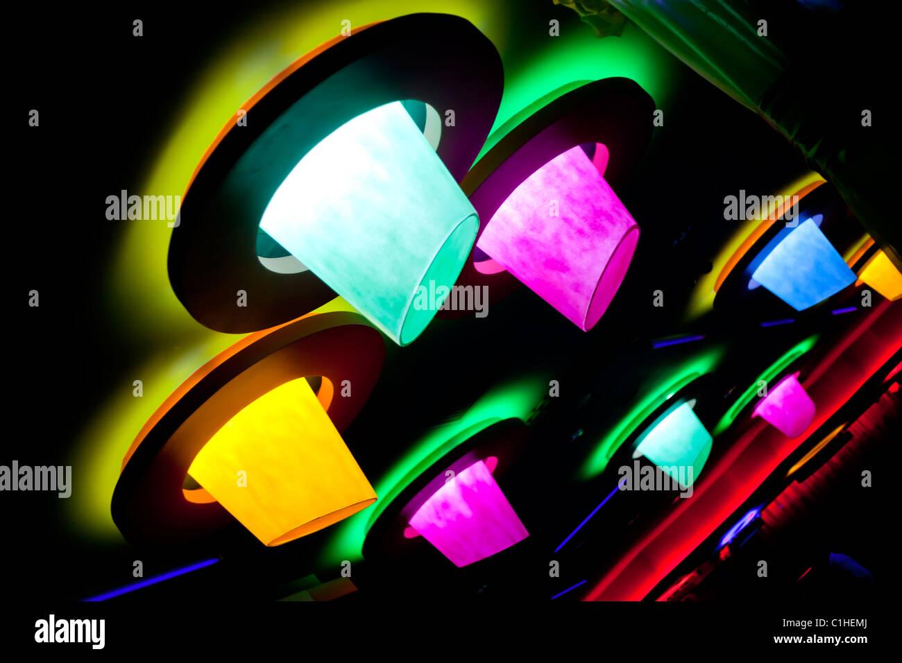 abstrakte Diskothek Beleuchtung mit Kreisen Stockbild