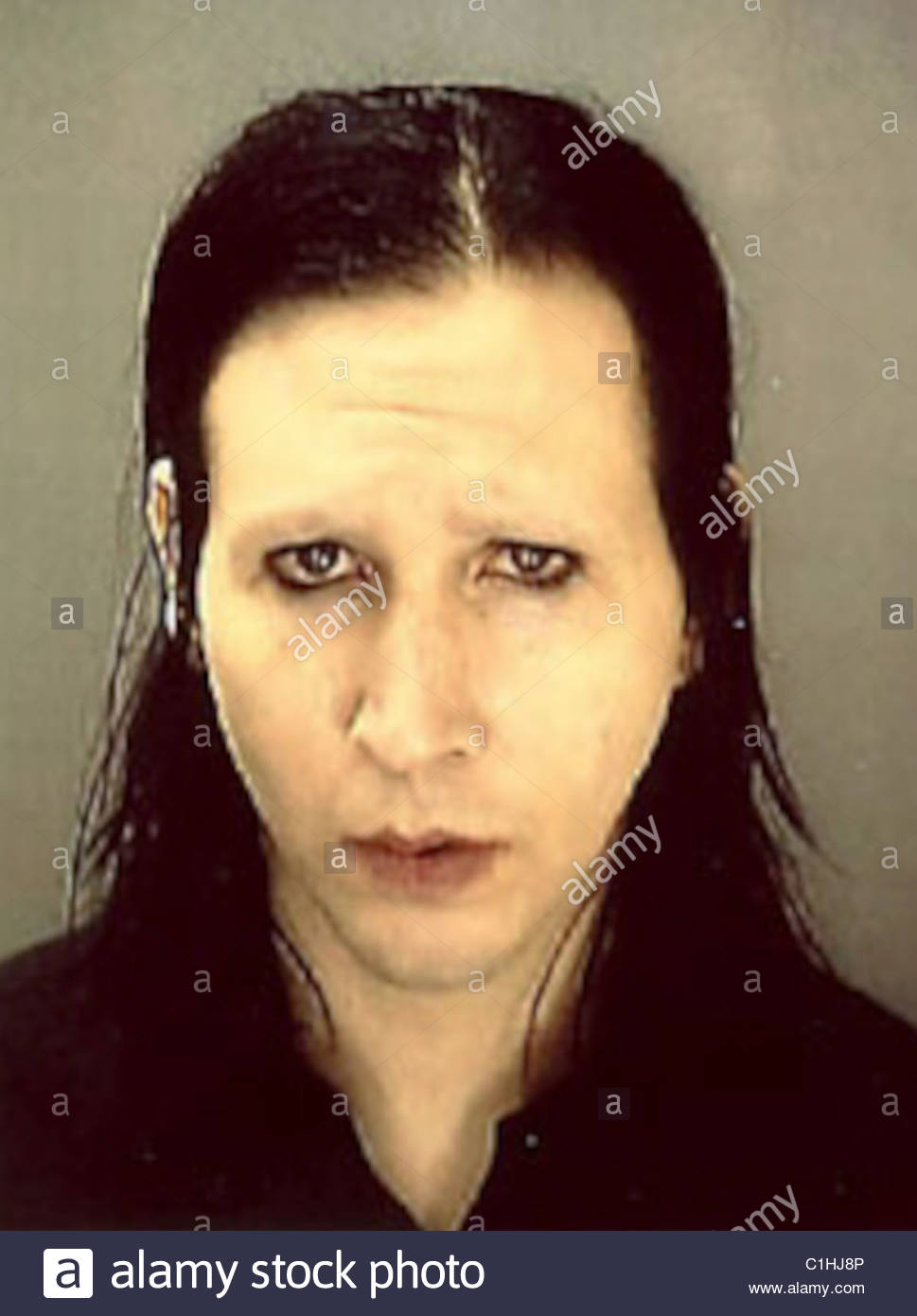 Marilyn Manson Mugshot Stockfoto Bild 35422934 Alamy