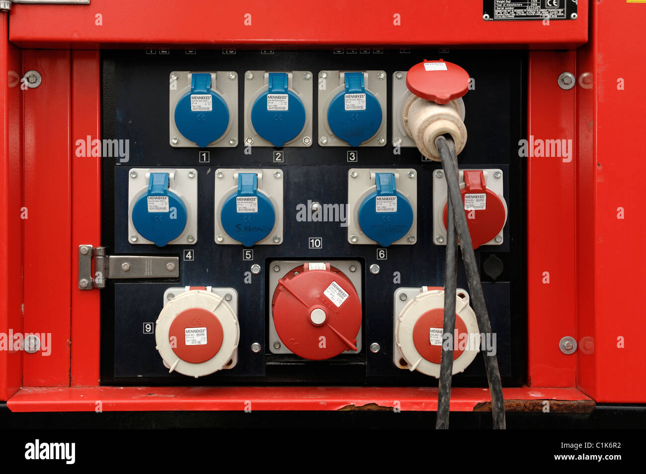 Generator-Steckdosen Stockbild