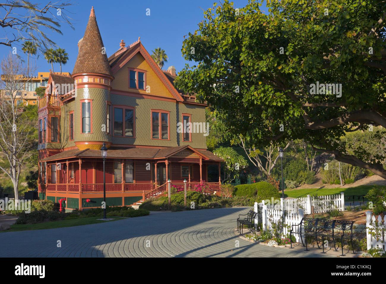 viktorianisches haus viktorianisches dorf heritage park altstadt san diego kalifornien usa. Black Bedroom Furniture Sets. Home Design Ideas