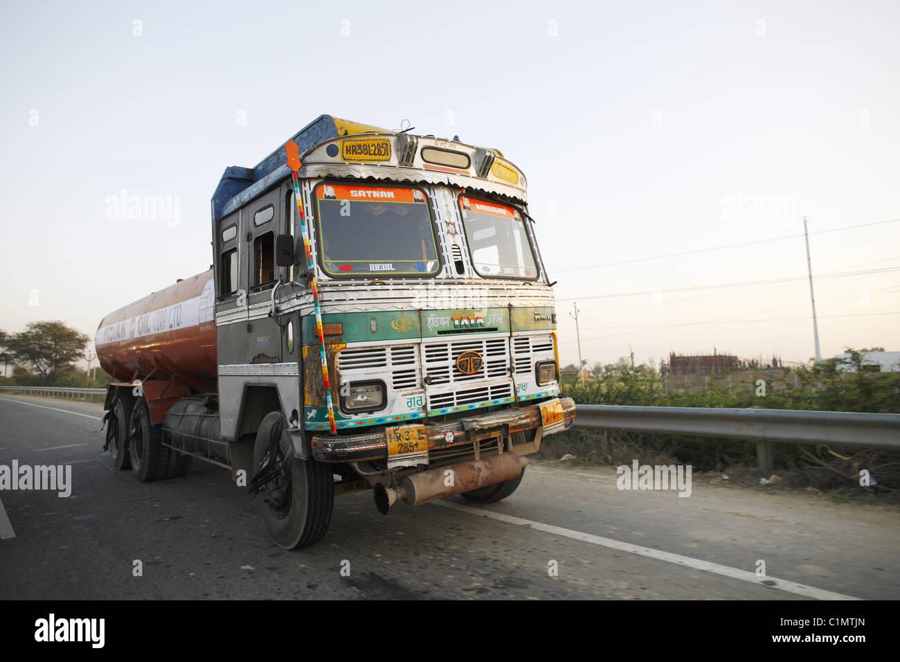 IND, Indien, 20110310, transfer LKW Stockbild