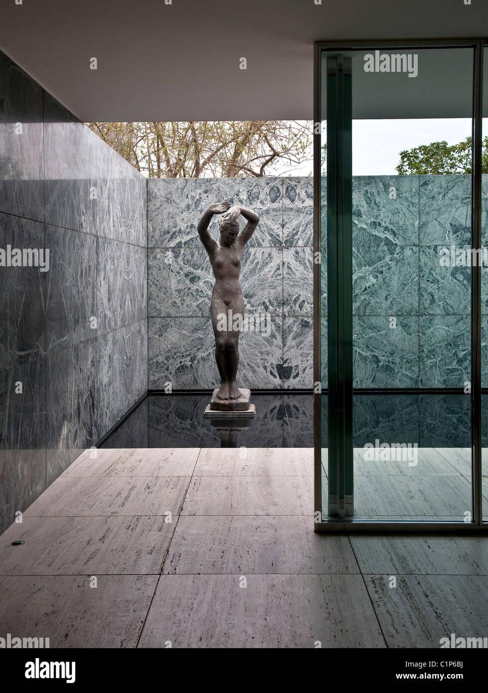 Barcelona Deutscher Weltausstellungspavillon 1929 Von Mies Van Der