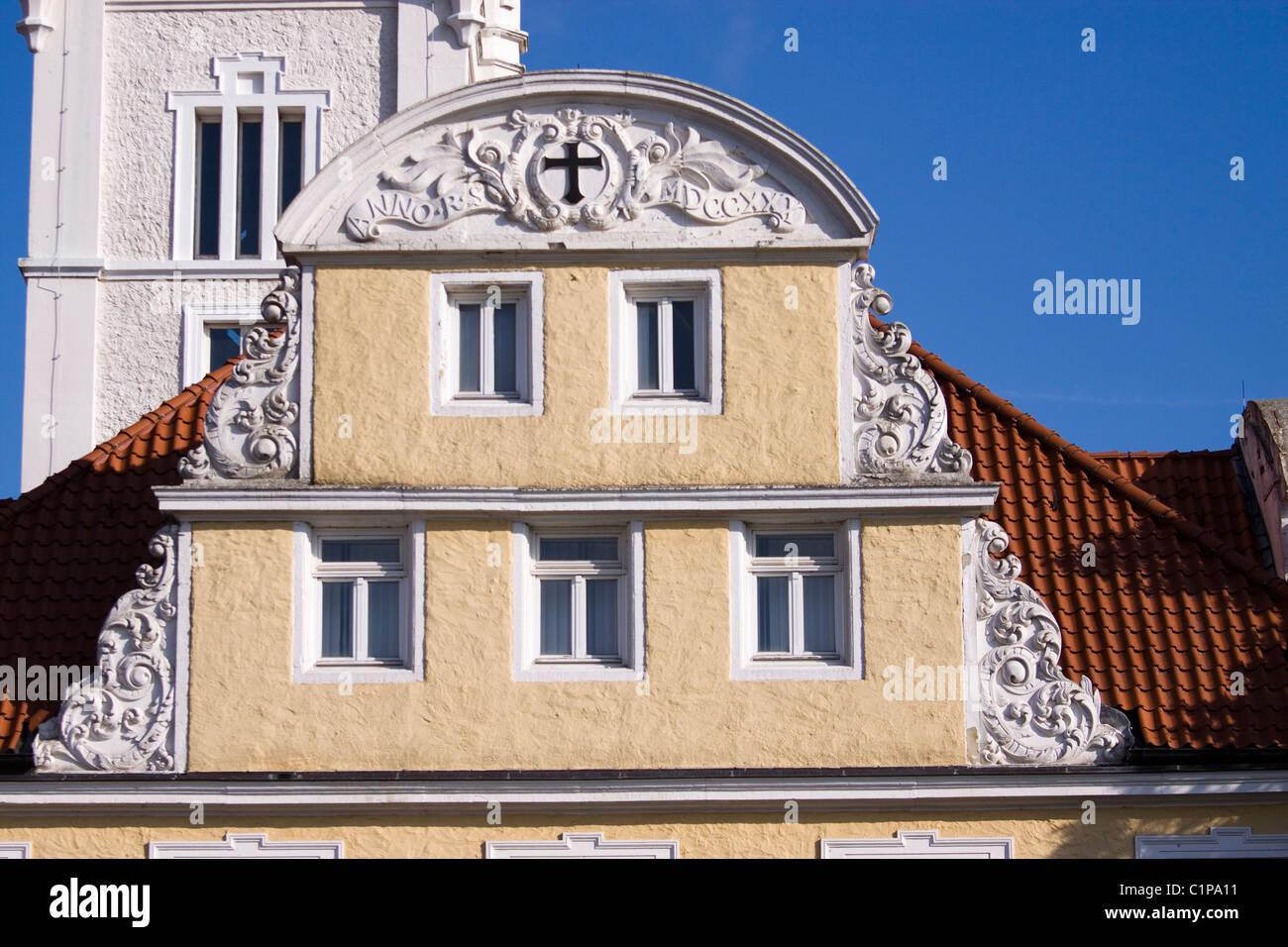 Deutschland, Verden eine der Aller, Rathaus, reich verzierte Rathaus Fassade Stockbild