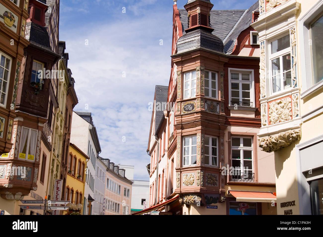 Deutschland, Koblenz, Fassaden Stockbild