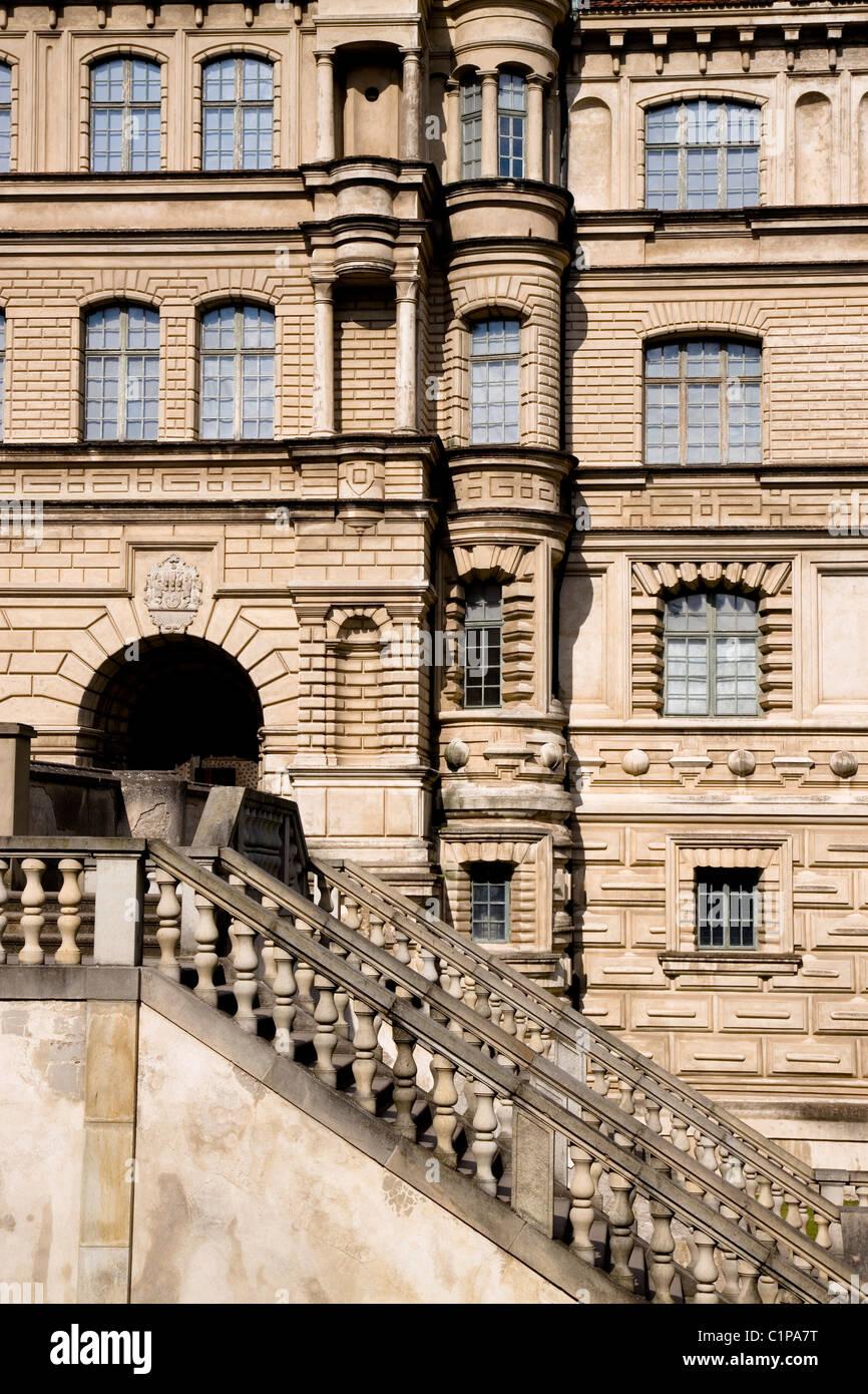 Deutschland, Gustrow, Schloss Fassade Stockbild