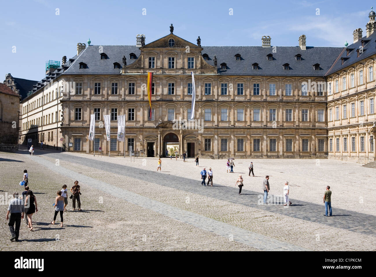 Deutschland, Bayern, Bamberg, Domplatz, Neue Residenz Stockbild