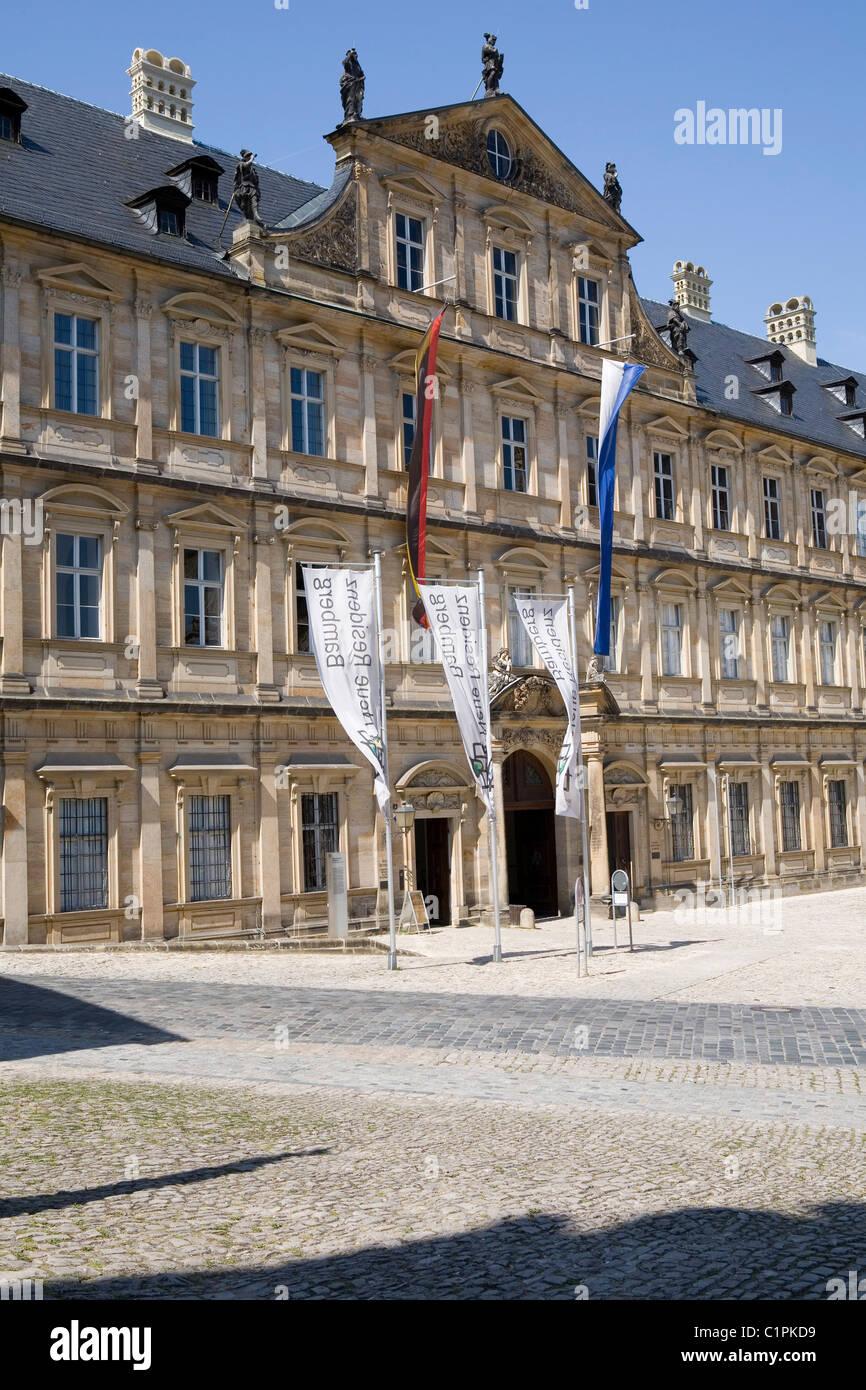 Deutschland, Bayern, Bamberg, Domplatz, Neue Residenz, Fassade Stockbild