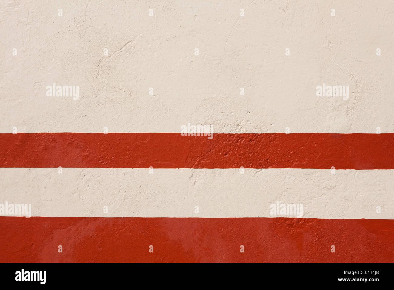 Bemaltem Stuck Wand, close-up Stockfoto