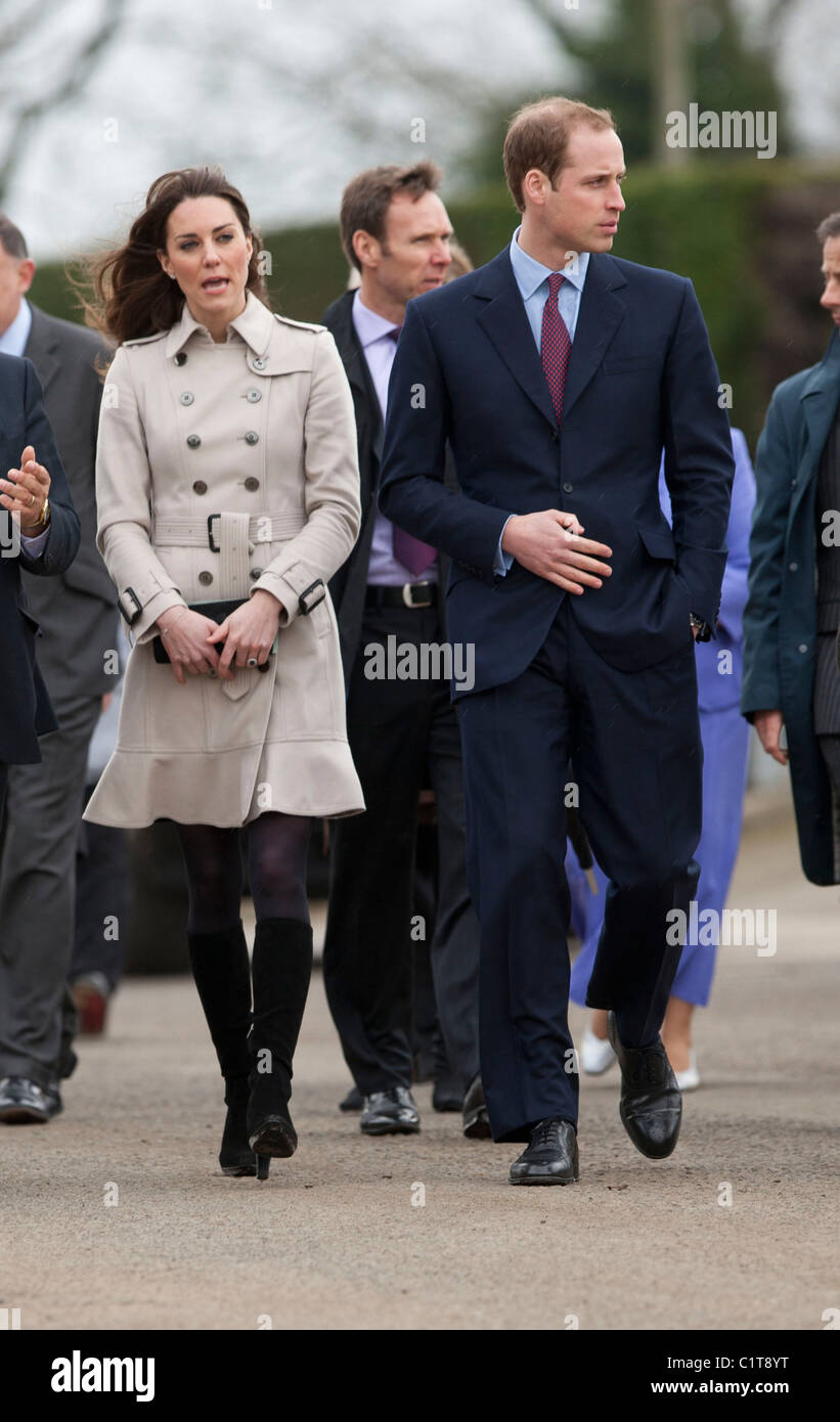 Prinz William und Kate Middleton besuchen Belfast im März 2011 Stockbild