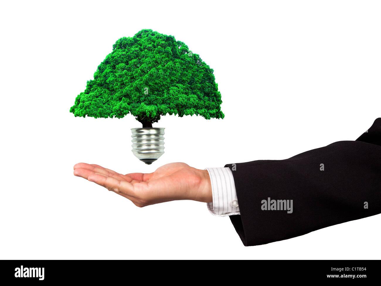 Öko-Energie-Geschäft Stockbild