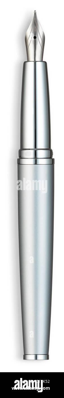 Füllfederhalter Chrom Silber Stockbild