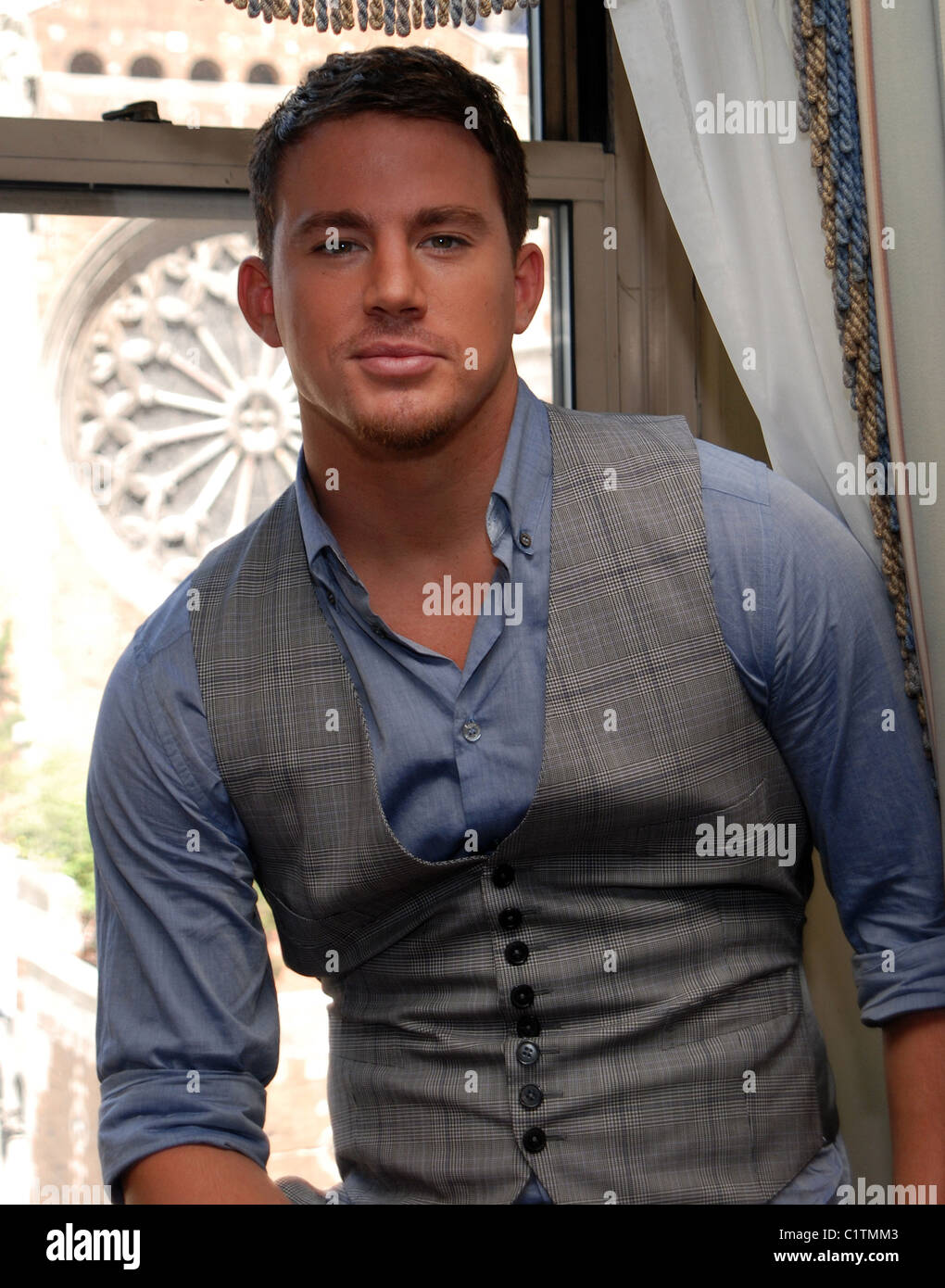 "Channing Tatum ""G.I. Joe: The Rise of Cobra"" Pressekonferenz im The Waldorf Astoria Hotel New York City, Stockbild"