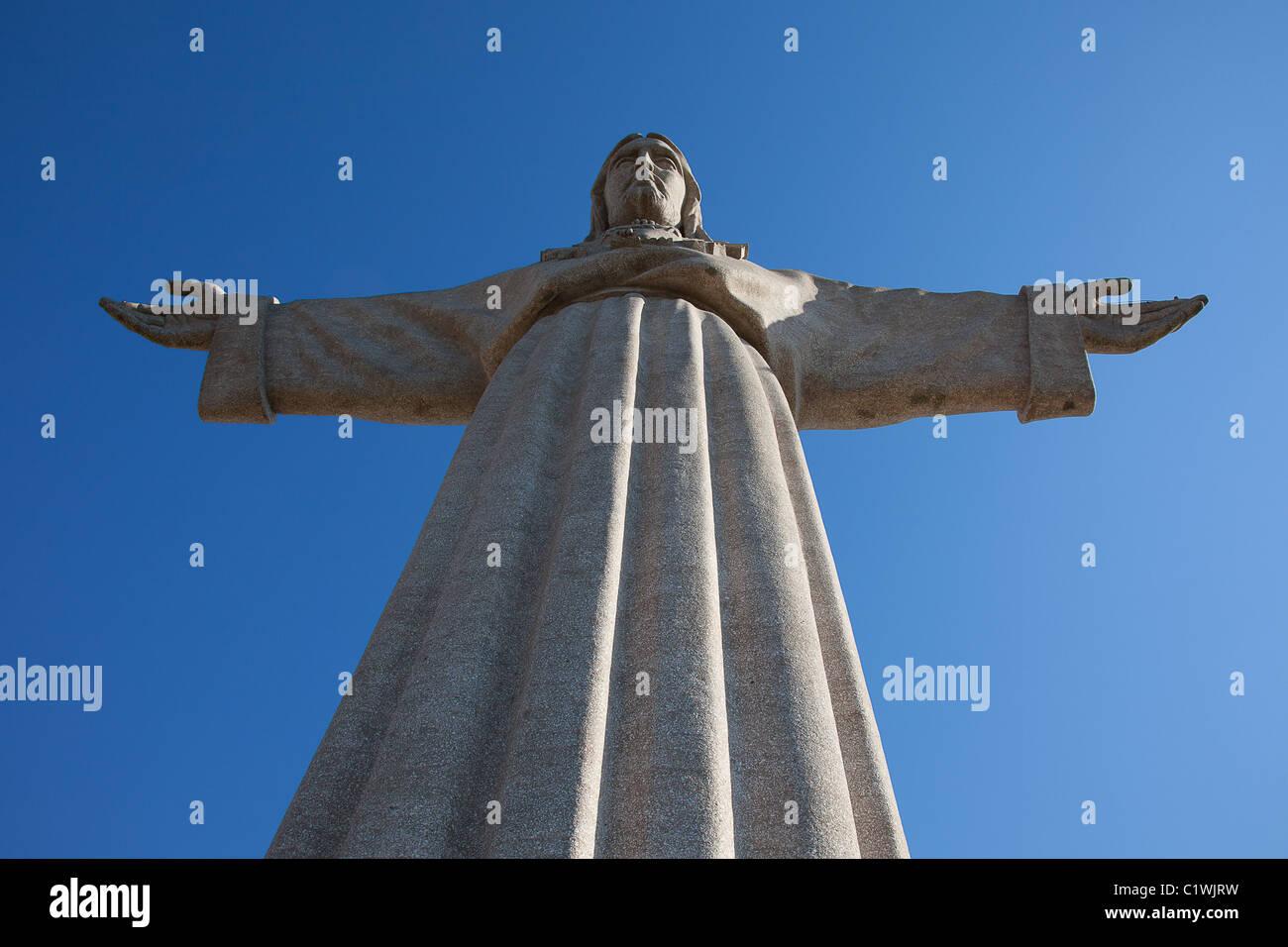 """Jesus Christus-Denkmal """"Cristo Rei"""" in Lissabon, Portugal Stockbild"""