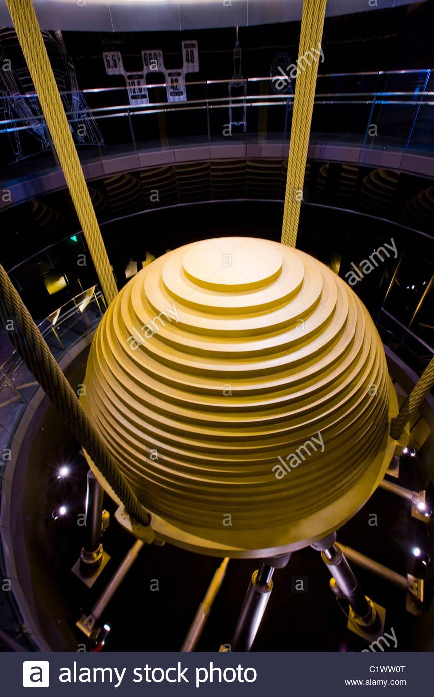 Taipei 101, Tuned mass Damper Pendel, Taiwan Stockbild