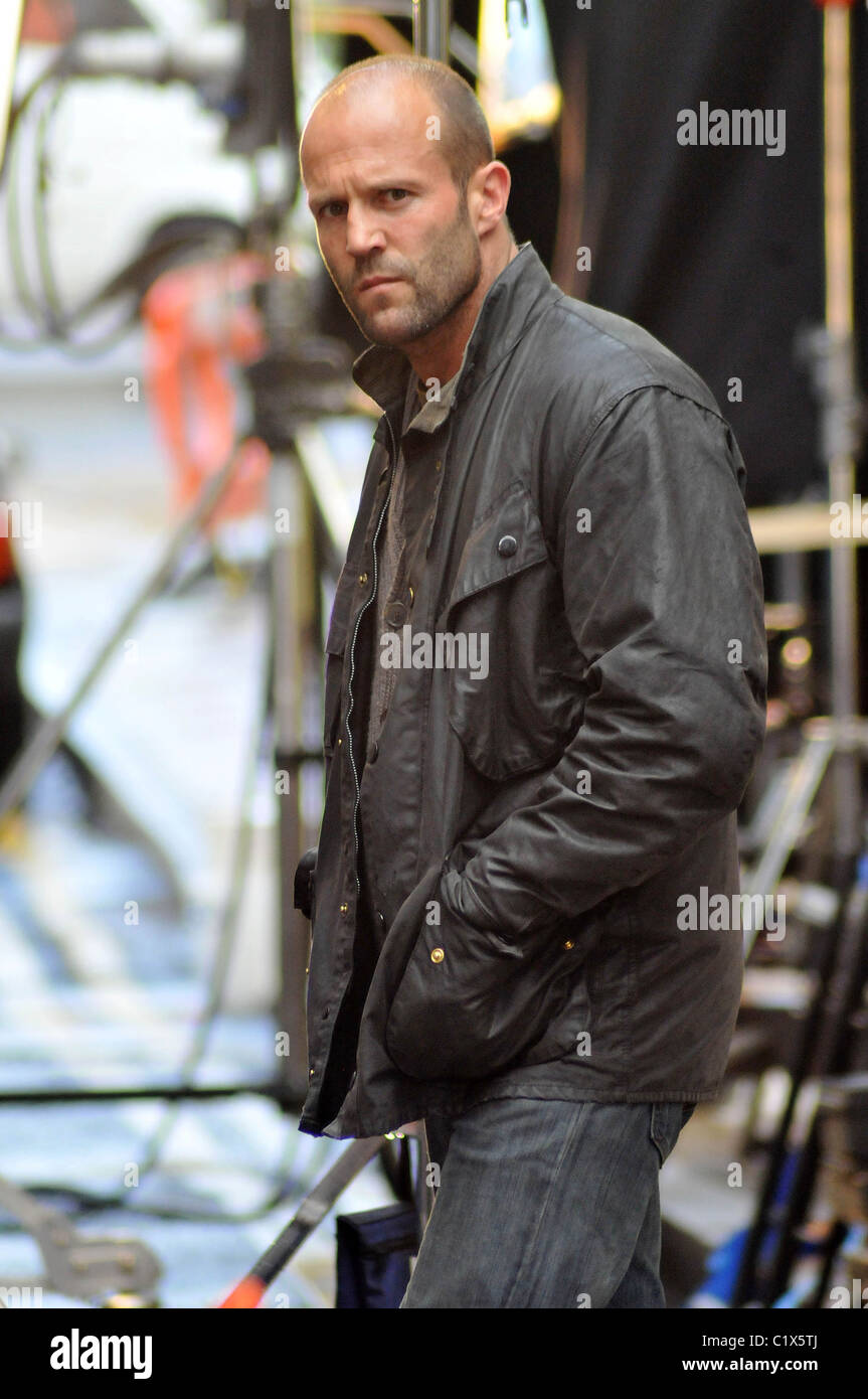 Jason Statham Am Set Seines Neuen Film Blitz London England