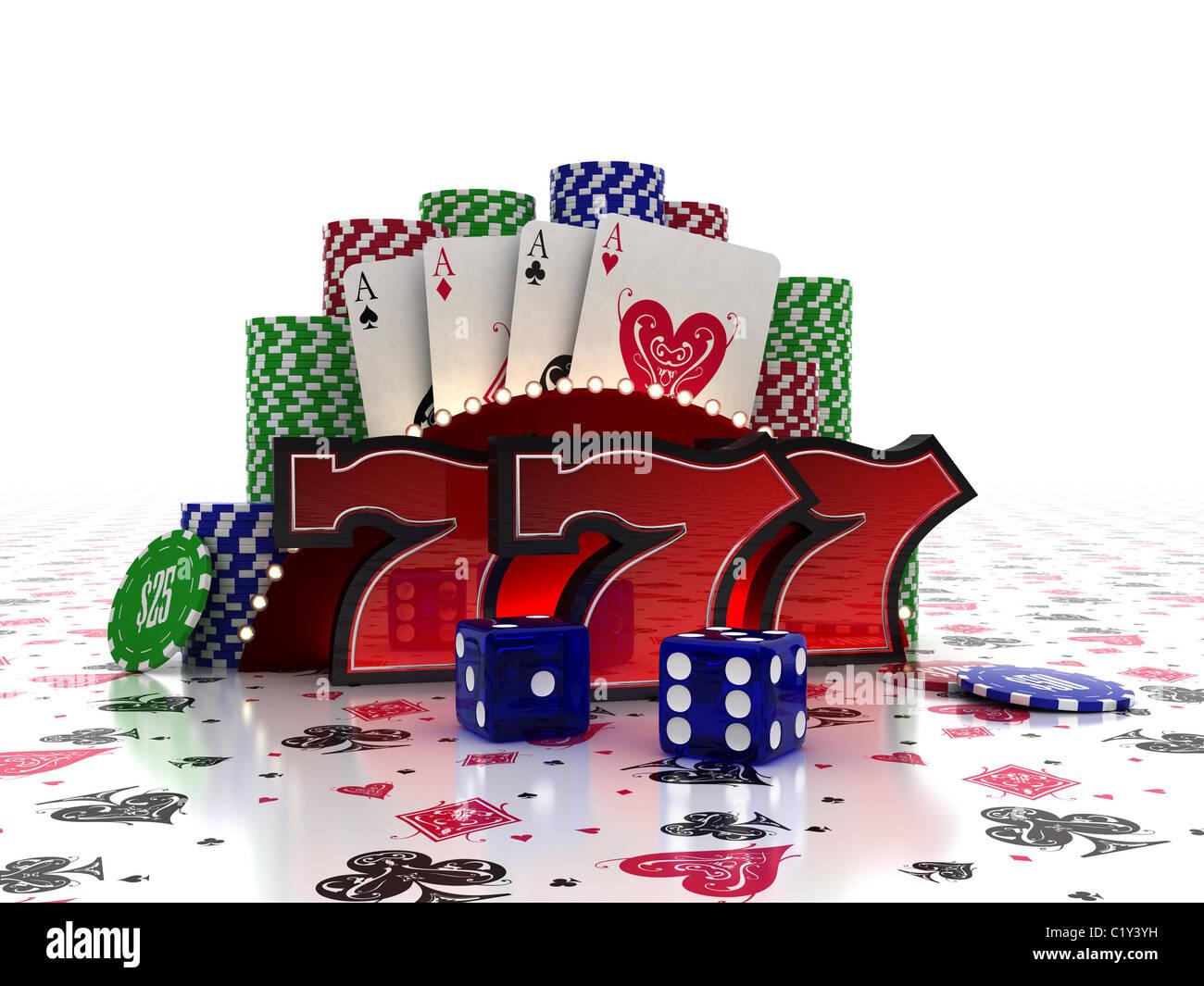 Lucky Sevens Stockbild