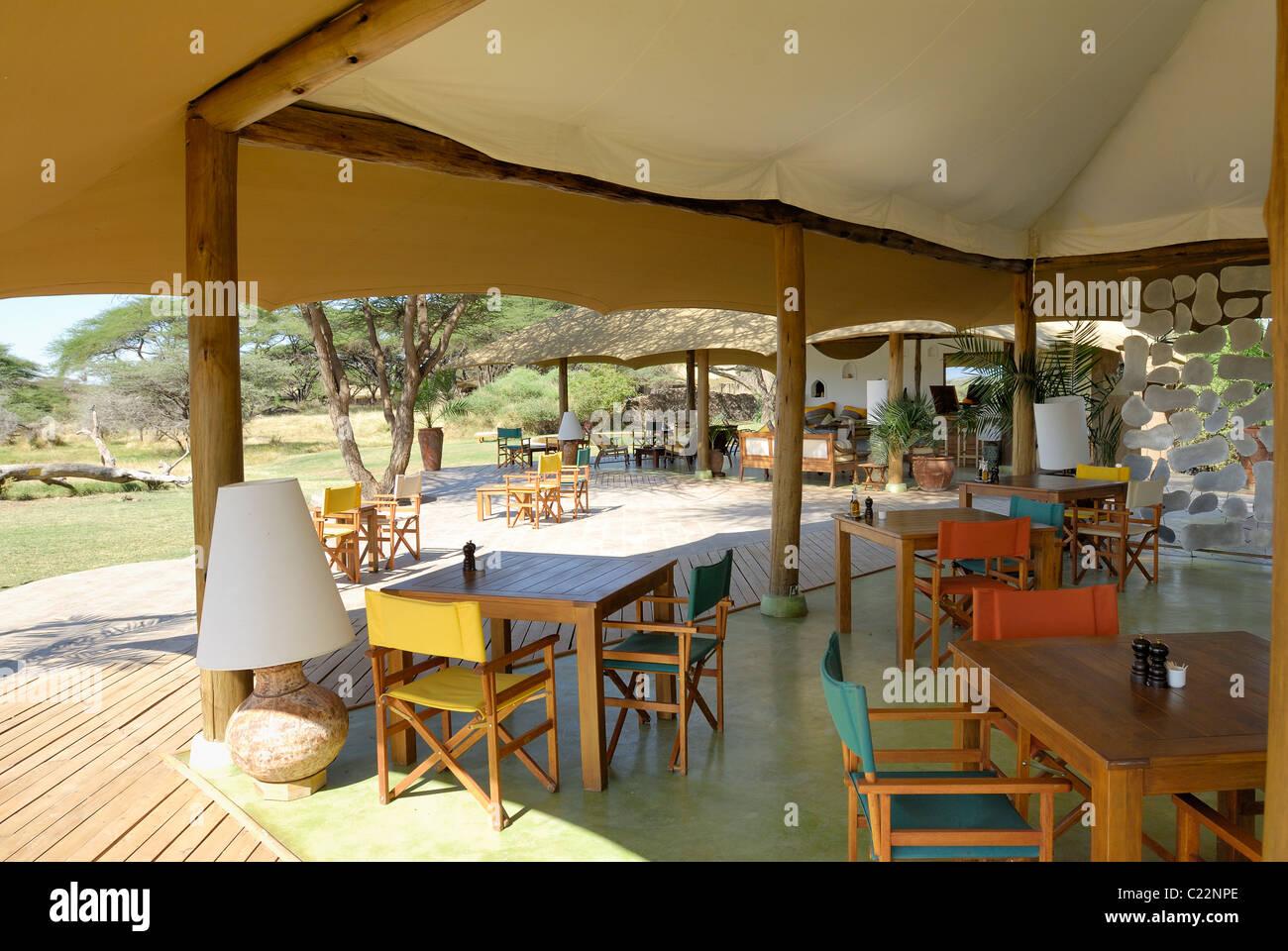 Wohnzimmer In Der Regel Lager Von Freude, Shaba Reserve, Samburu National  Park, Kenia, Afrika