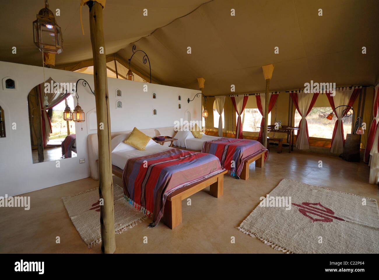 Schlafzimmer In Der Regel Lager Von Freude, Shaba Reserve, Samburu National  Park, Kenia, Afrika