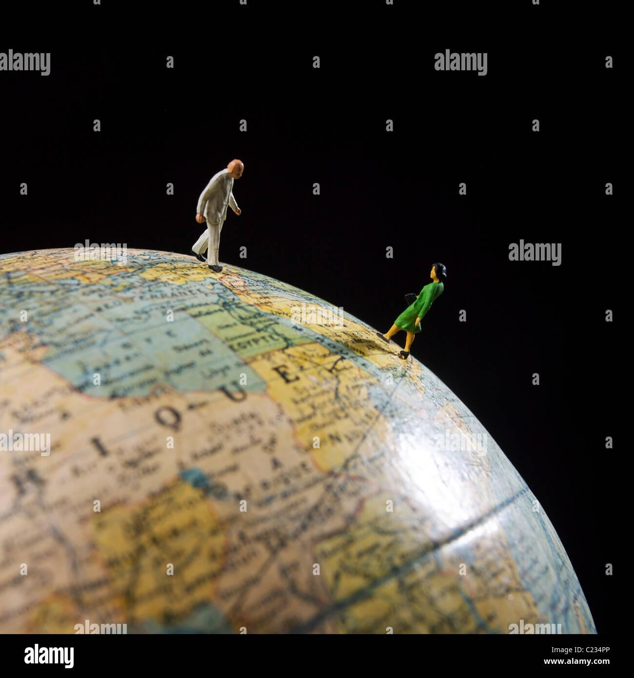 Konzept - Reisen, Kommunikation, Business, Welthandel, Export, Import, weltweite Reisen Stockbild