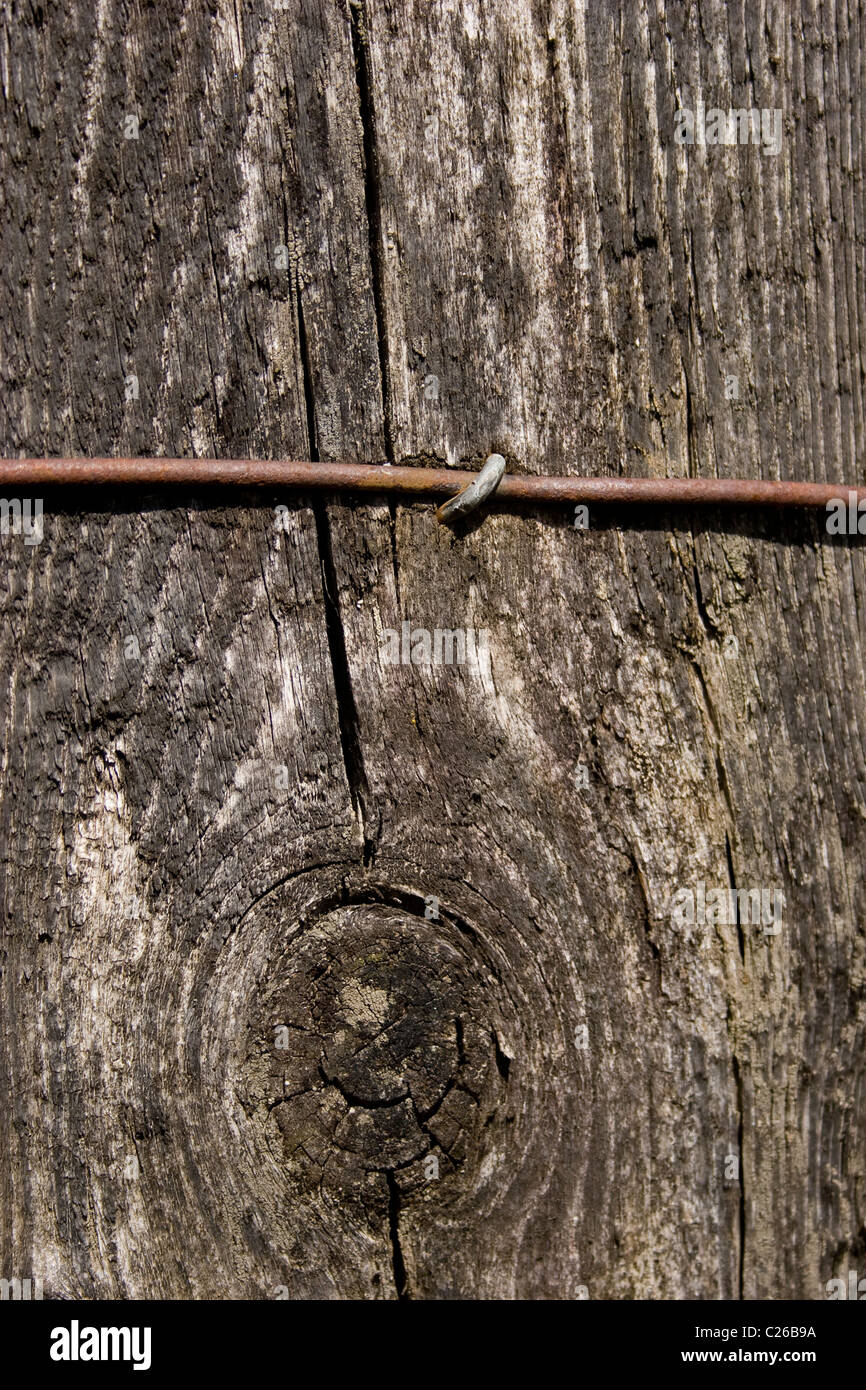 Holz Zaun Pfosten Enger Draht Rost Pin Nagel Befestigen Alten