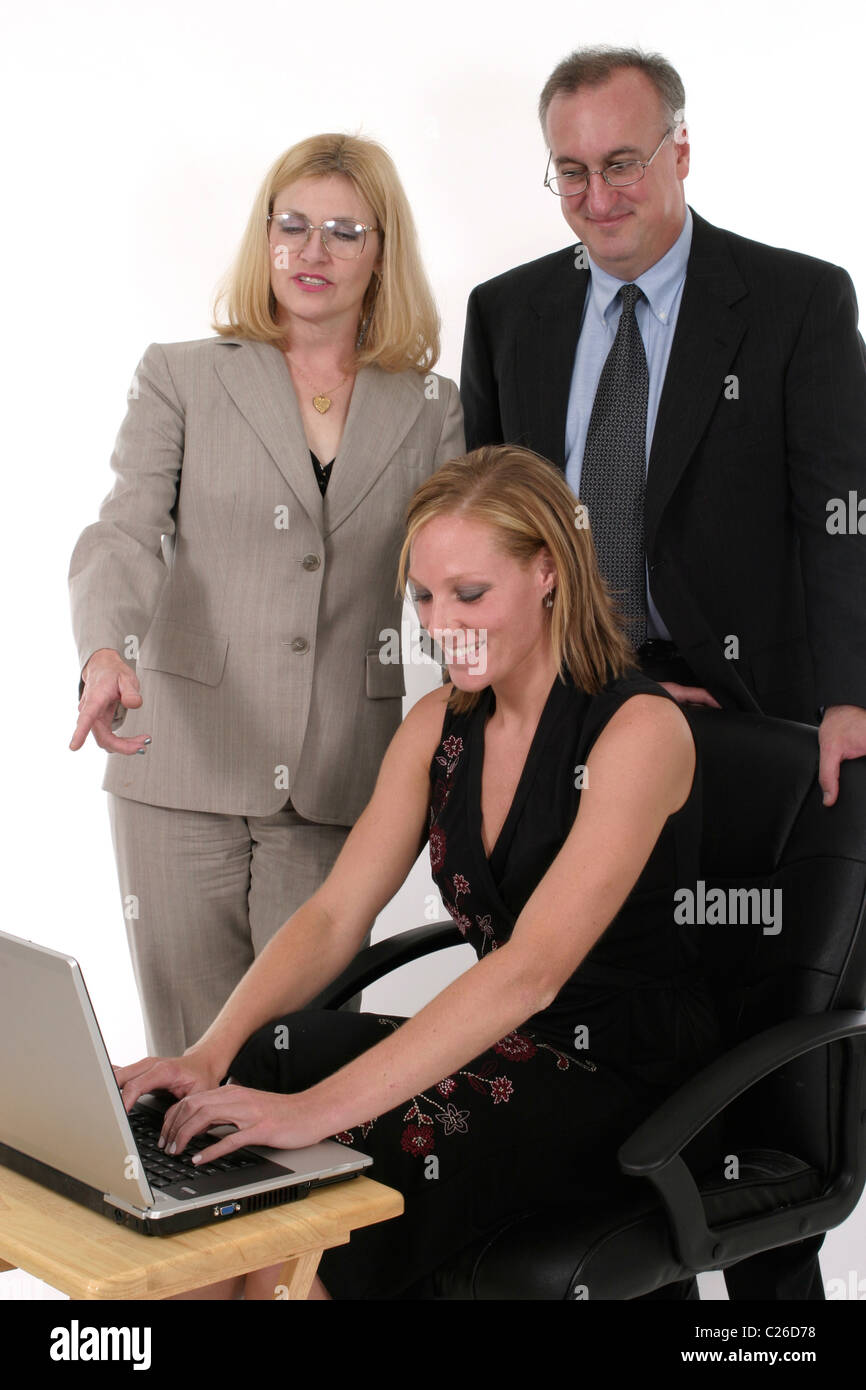 Business Team harmonisch zusammenarbeiten Stockbild