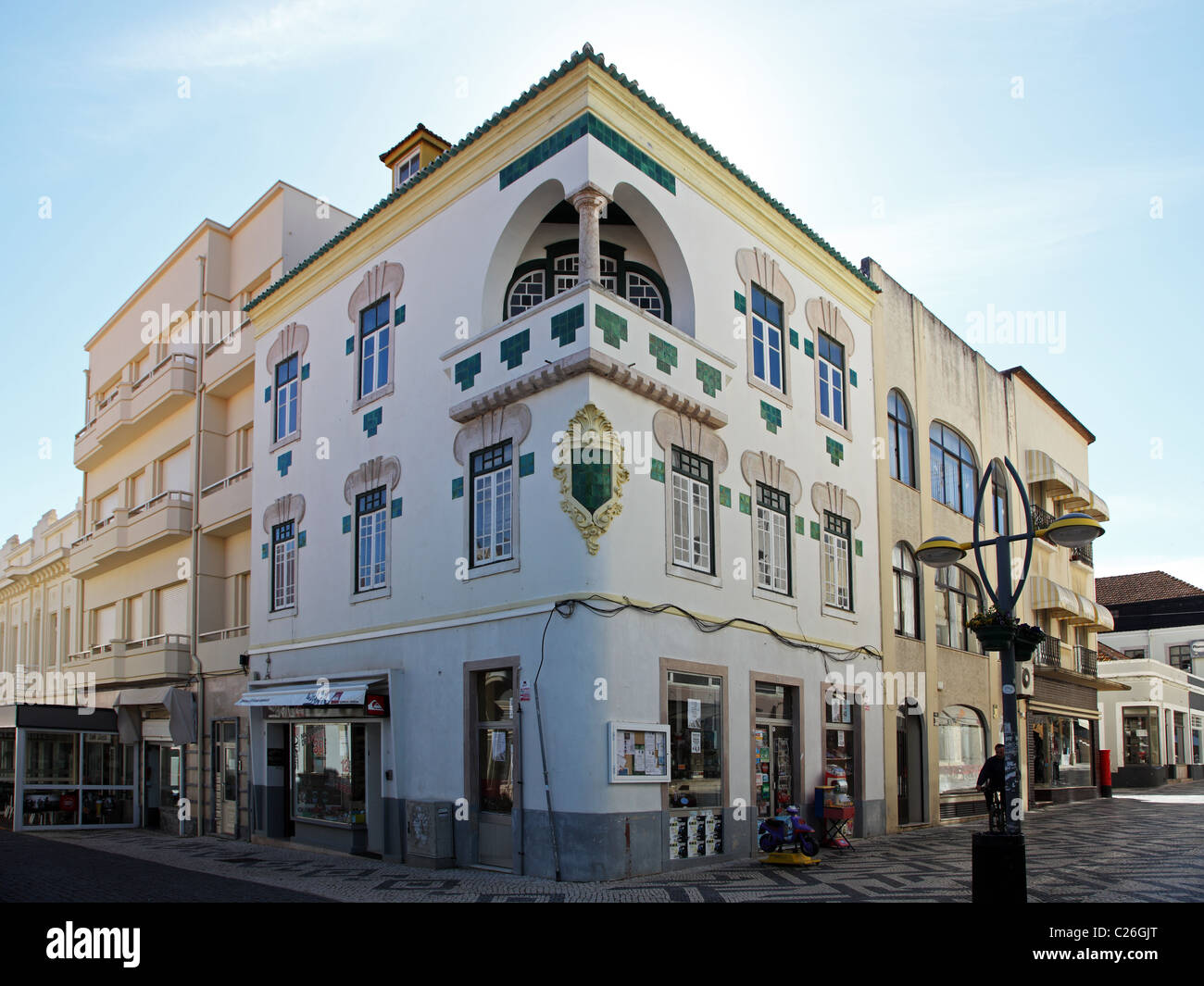 Deco Architektur deco architektur figueira da foz portugal stockfoto bild