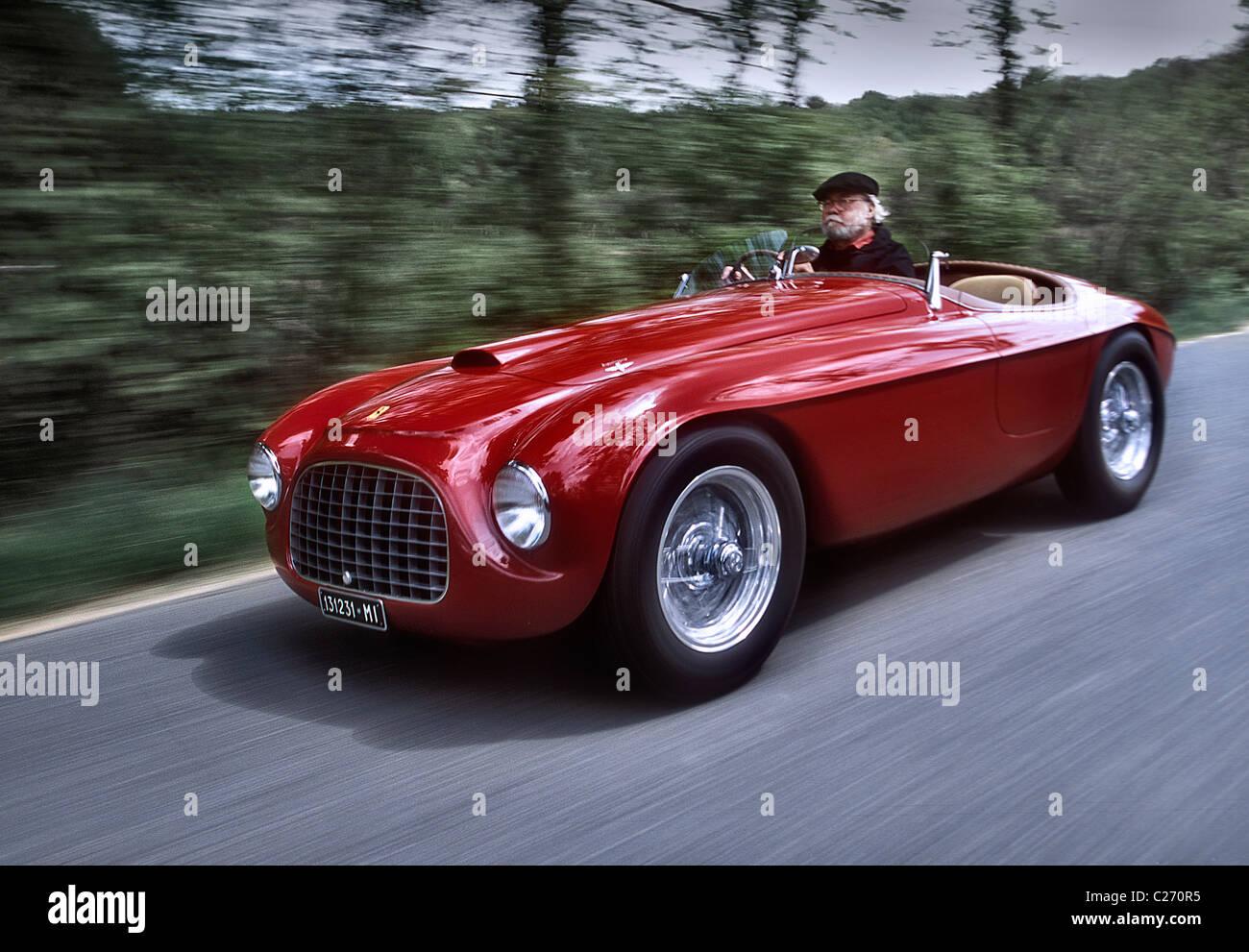 David E Davie Jr Mit Einem Ferrari 166 Mm Barchetta Von Touring 1949 Stockfotografie Alamy