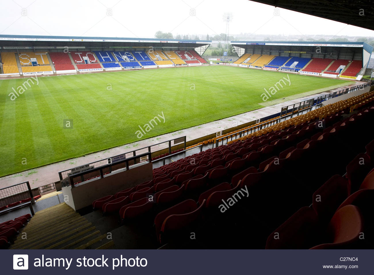 17.06.09 MCDIARMID PARK - PERTH GV des McDiarmid Park, Heimat des St. Johnstone FC Stockbild