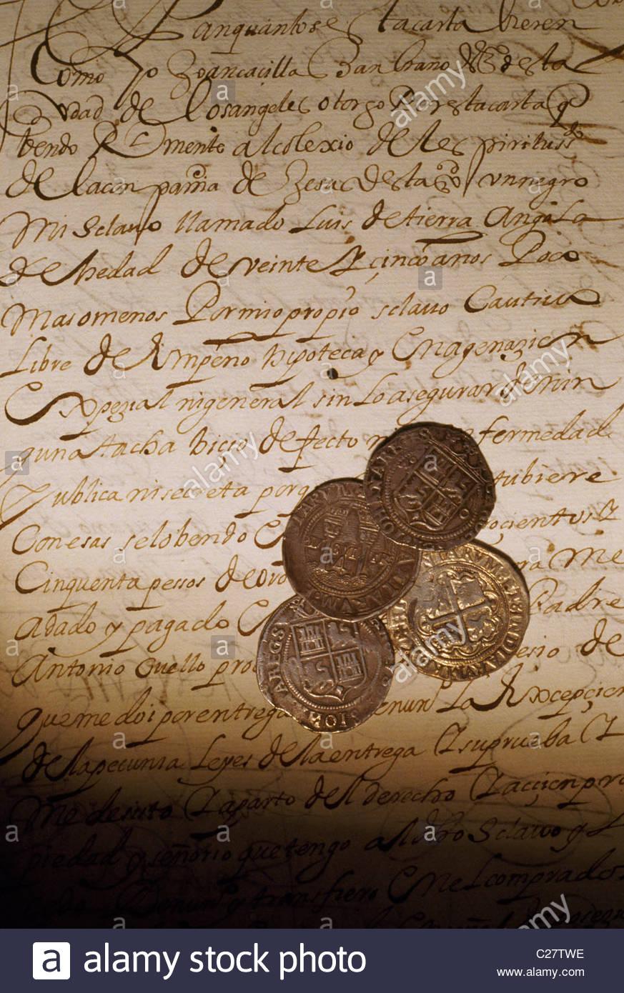 Spanische Münzen Stockfotos Spanische Münzen Bilder Alamy