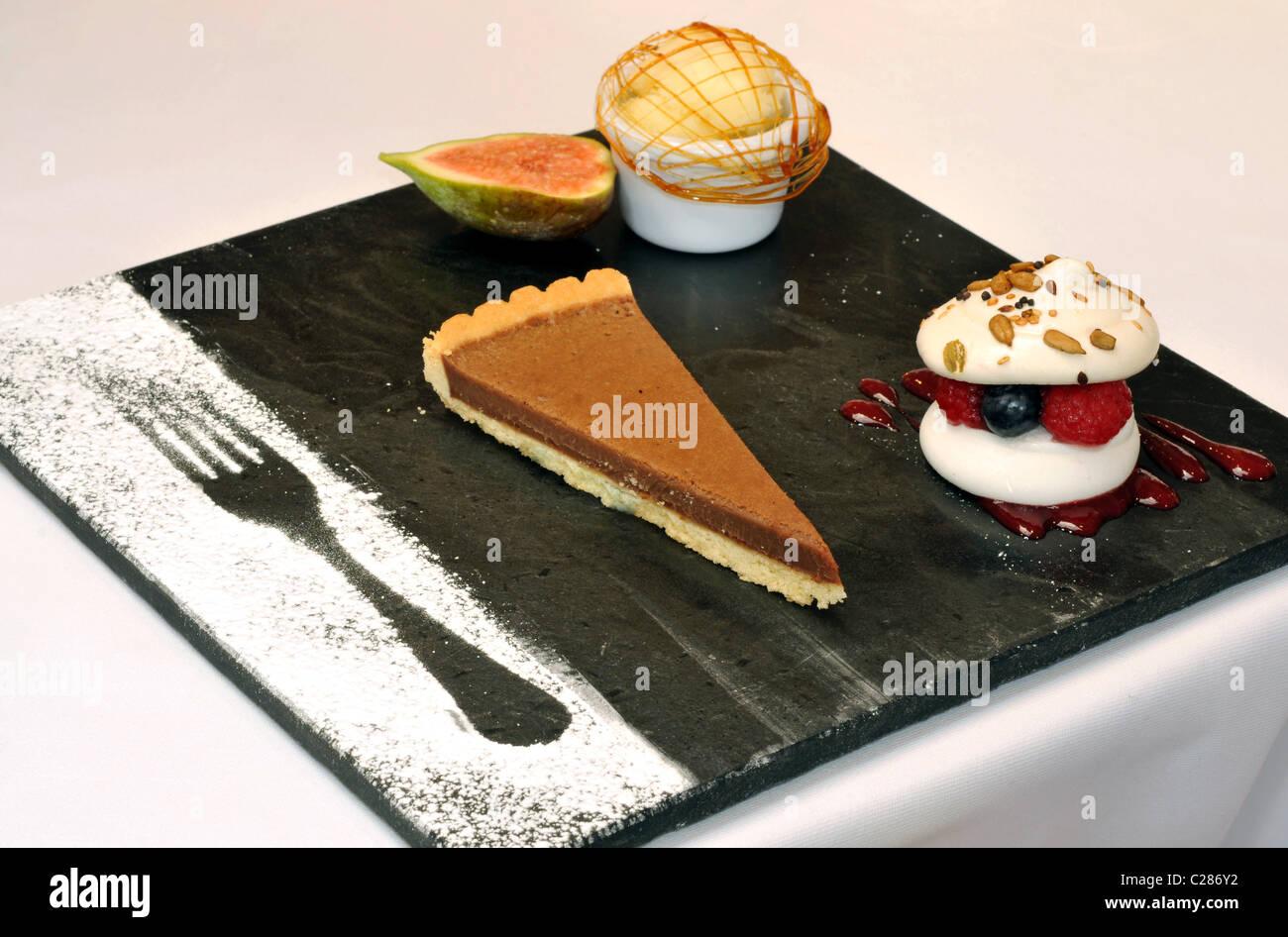 Dessert, pudding Stockbild