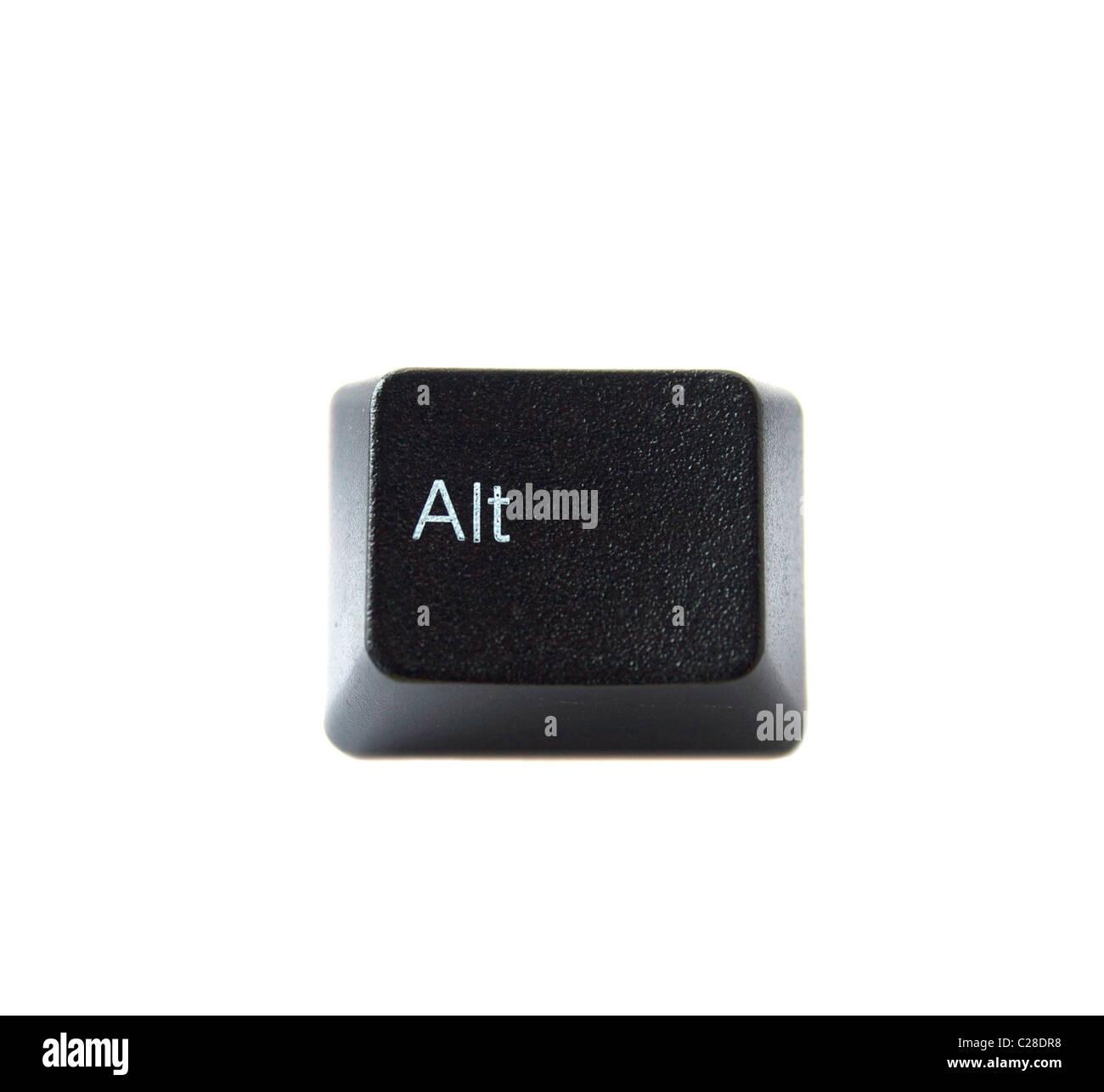 Die ALT-Taste eine schwarze Computertastatur Stockbild