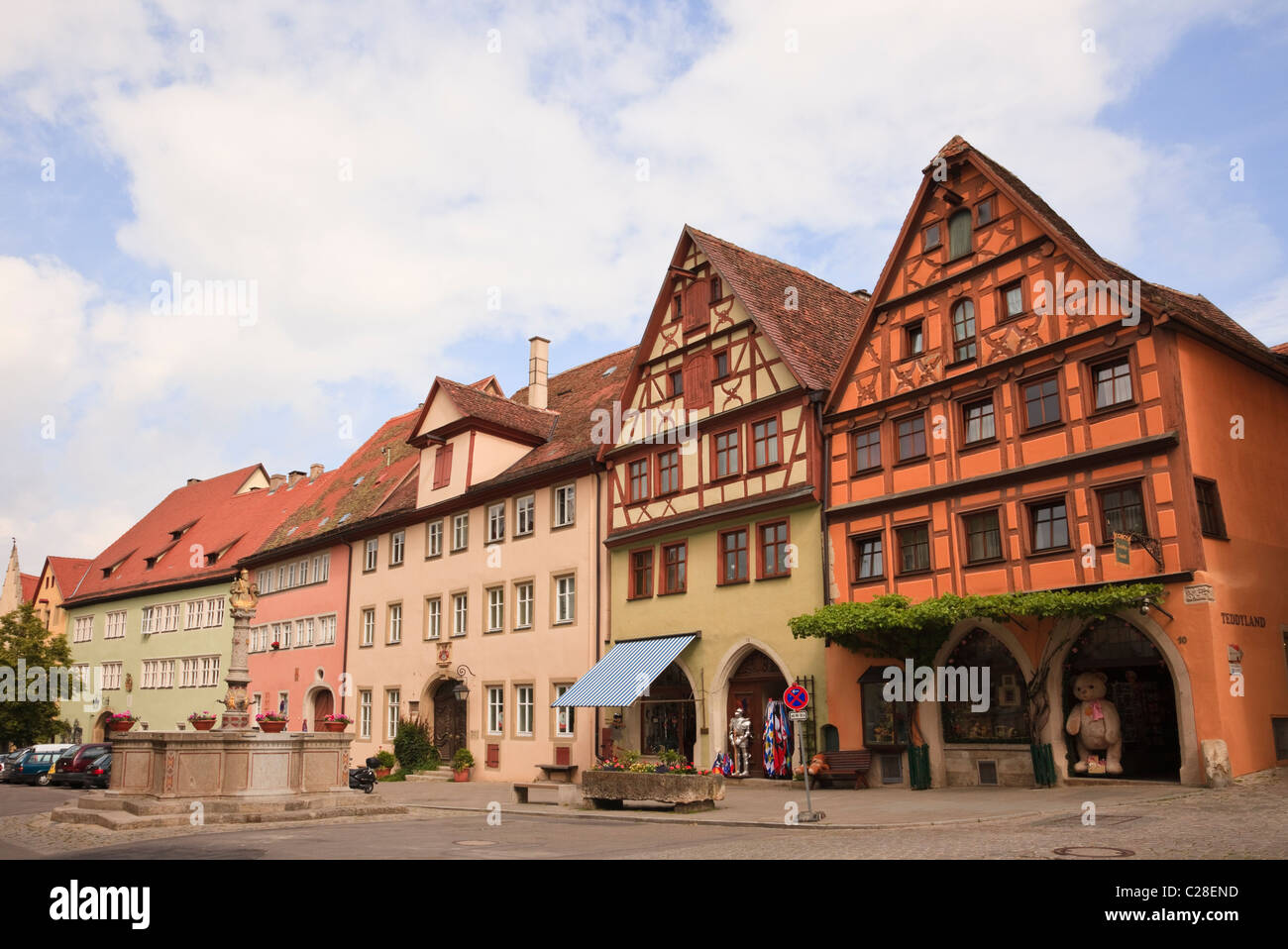 Herrngasse Rothenburg Ob Der Tauber Bavaria Germany Typisch