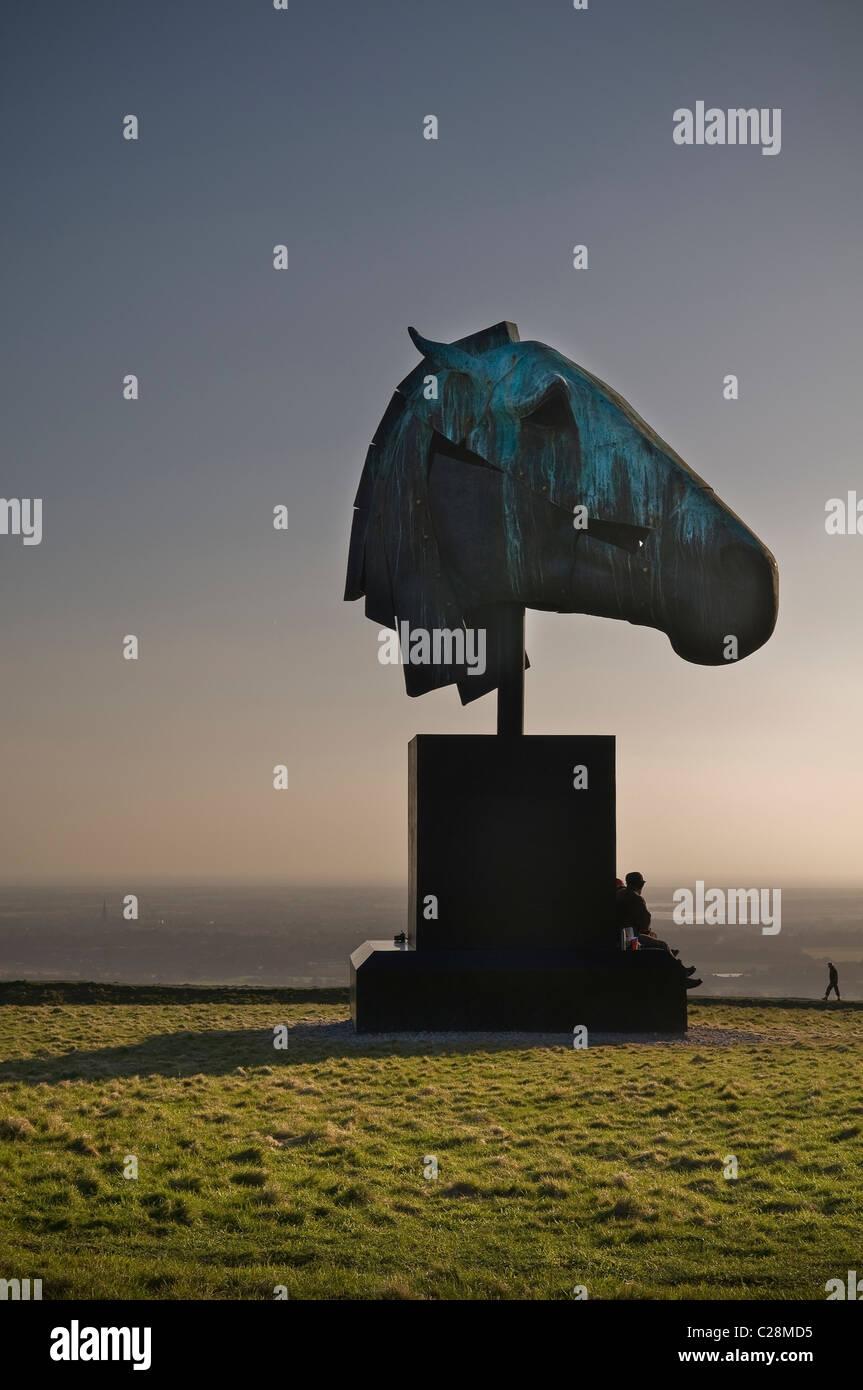 """Die """"Artemis"""" Skulptur auf der Trundle in der Nähe von Goodwood, Chichester, West Sussex, UK Stockbild"""