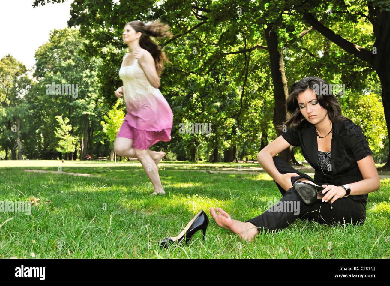 Eine Latina Im Park