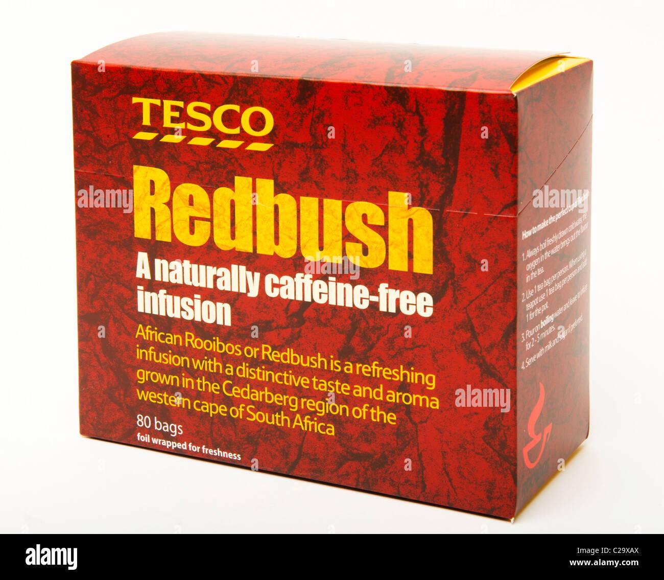 """""""Roter Busch"""" Tee """"koffeinfrei"""" alternative Tee Roter Busch Stockbild"""
