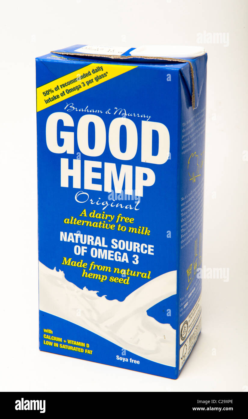 "Hanf-Milch ""alternative Milch"" Stockbild"