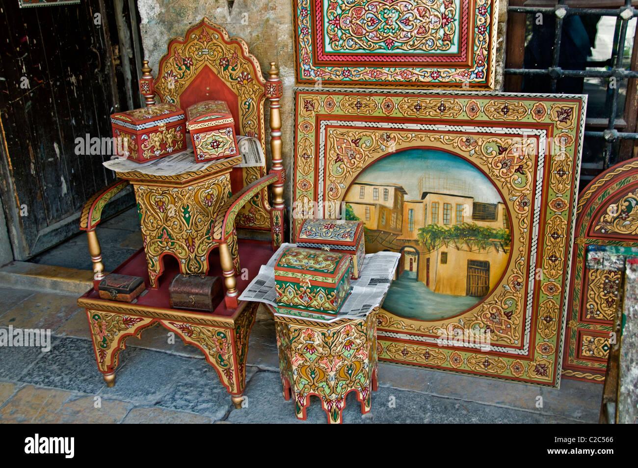Damaskus Möbel Malen Maler Malen Syrien Basar Souk Souk Markt Shopp