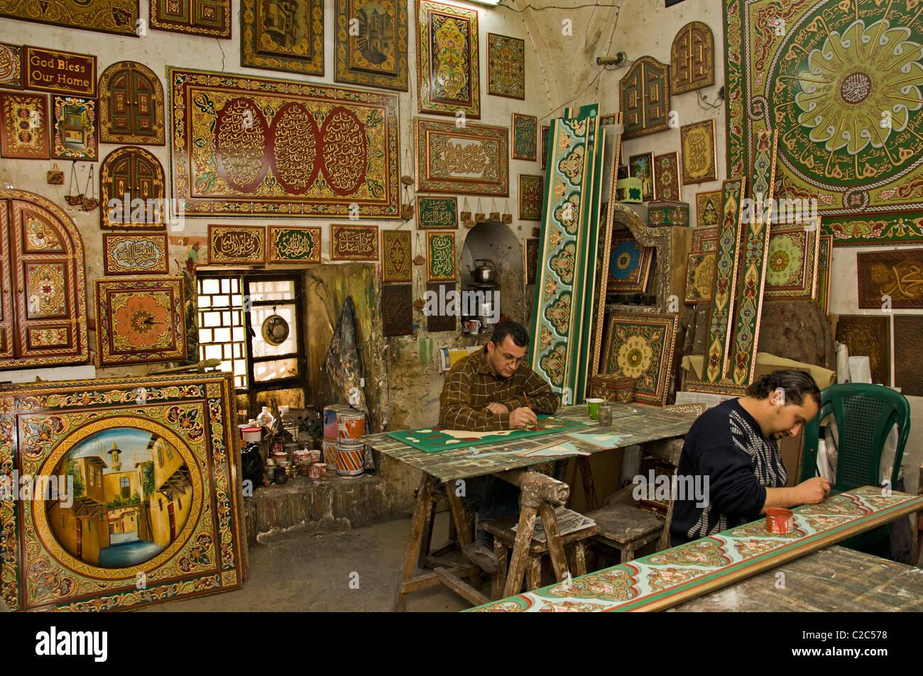 Damaskus Möbel Malen Maler Malen Syrien Basar Souk Souk Markt Shop
