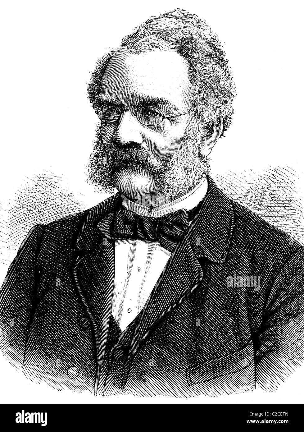 Werner von Siemens, 1816-1892, Erfinder, Begründer der Elektrotechnik und Gründer der Siemens AG, historische Stockbild