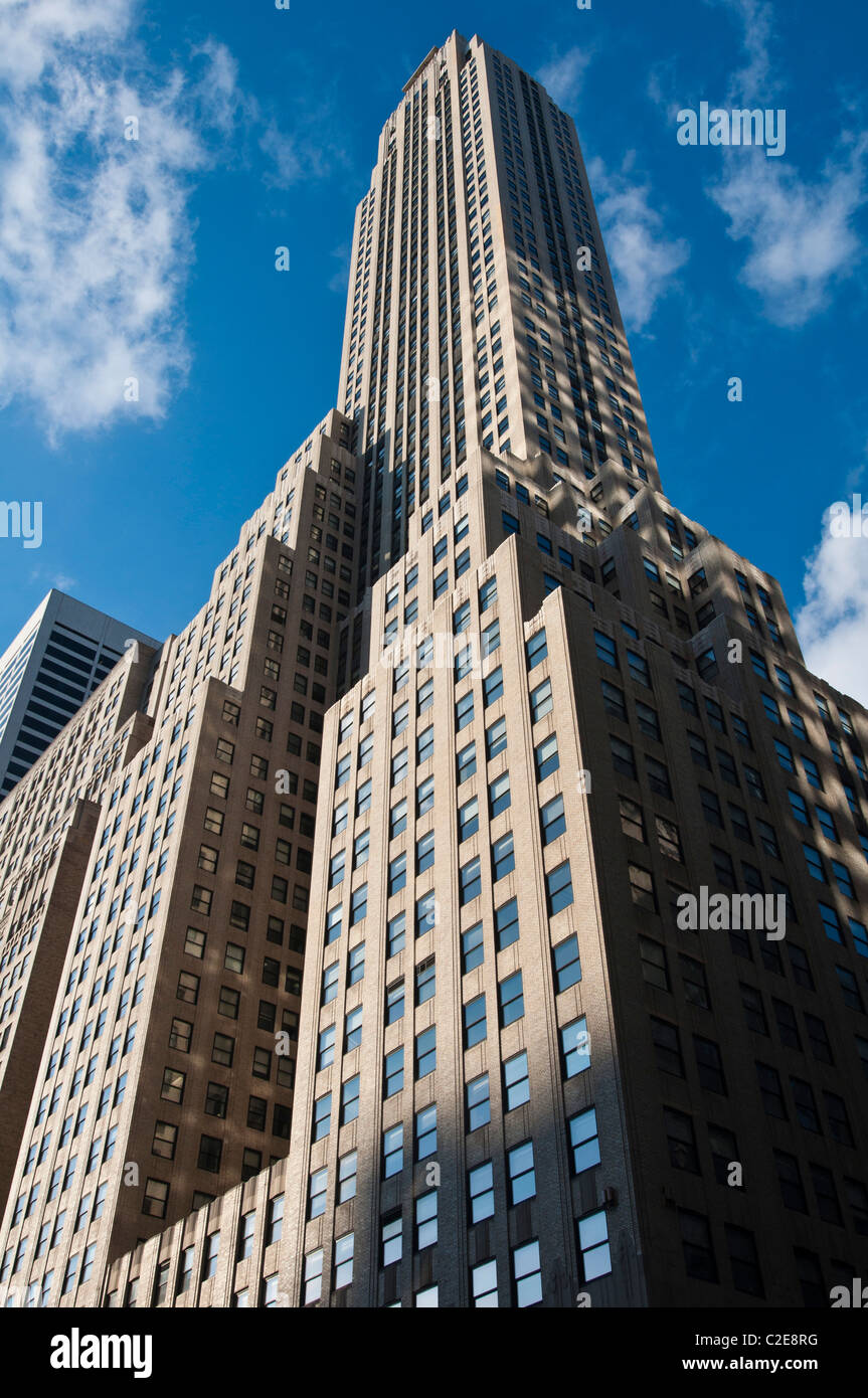 500 Fifth Avenue Art-deco-Büroturm, West 42th Street und 5th Avenue, Manhattan, New York, USA Stockbild