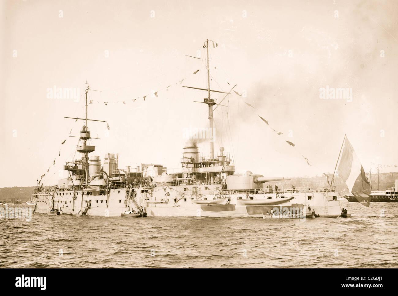 Gerechtigkeit, Französisch Schiff Stockbild