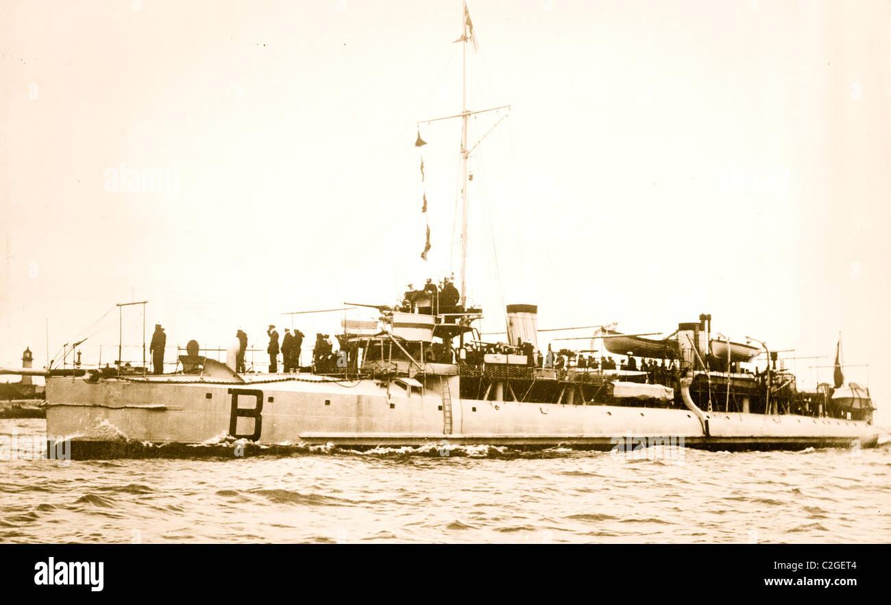 Französische Schlachtschiff BOMBARDE Stockbild