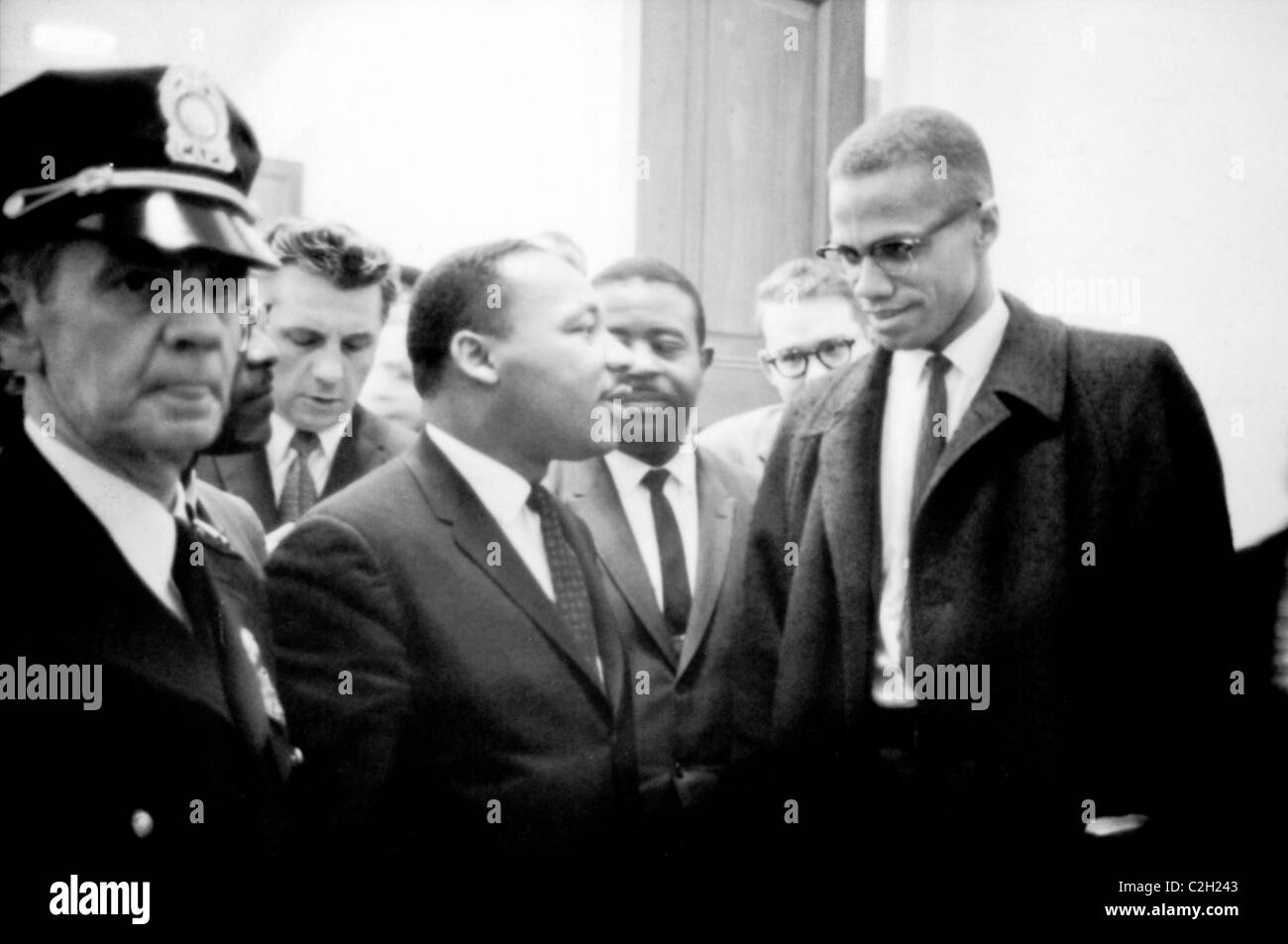 Martin Luther King und Malcolm X Stockbild