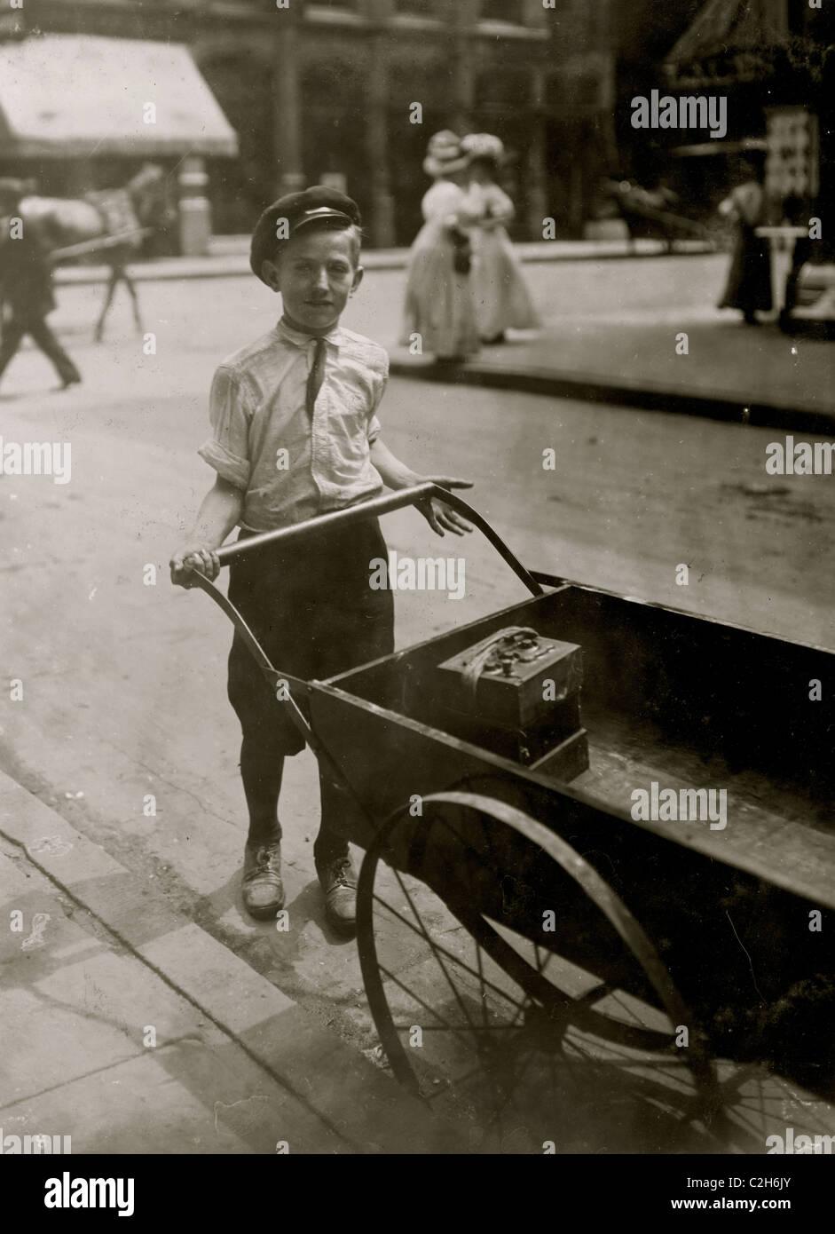 H. C. Orr liefert für einen Motor Car Co. Stockbild