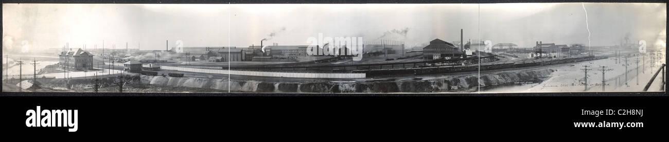 Indiana Steel Co. Werk in Gary, Indiana Stockbild