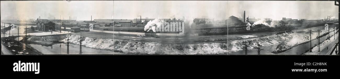 Stahlwerke von Gary, IN Stockbild
