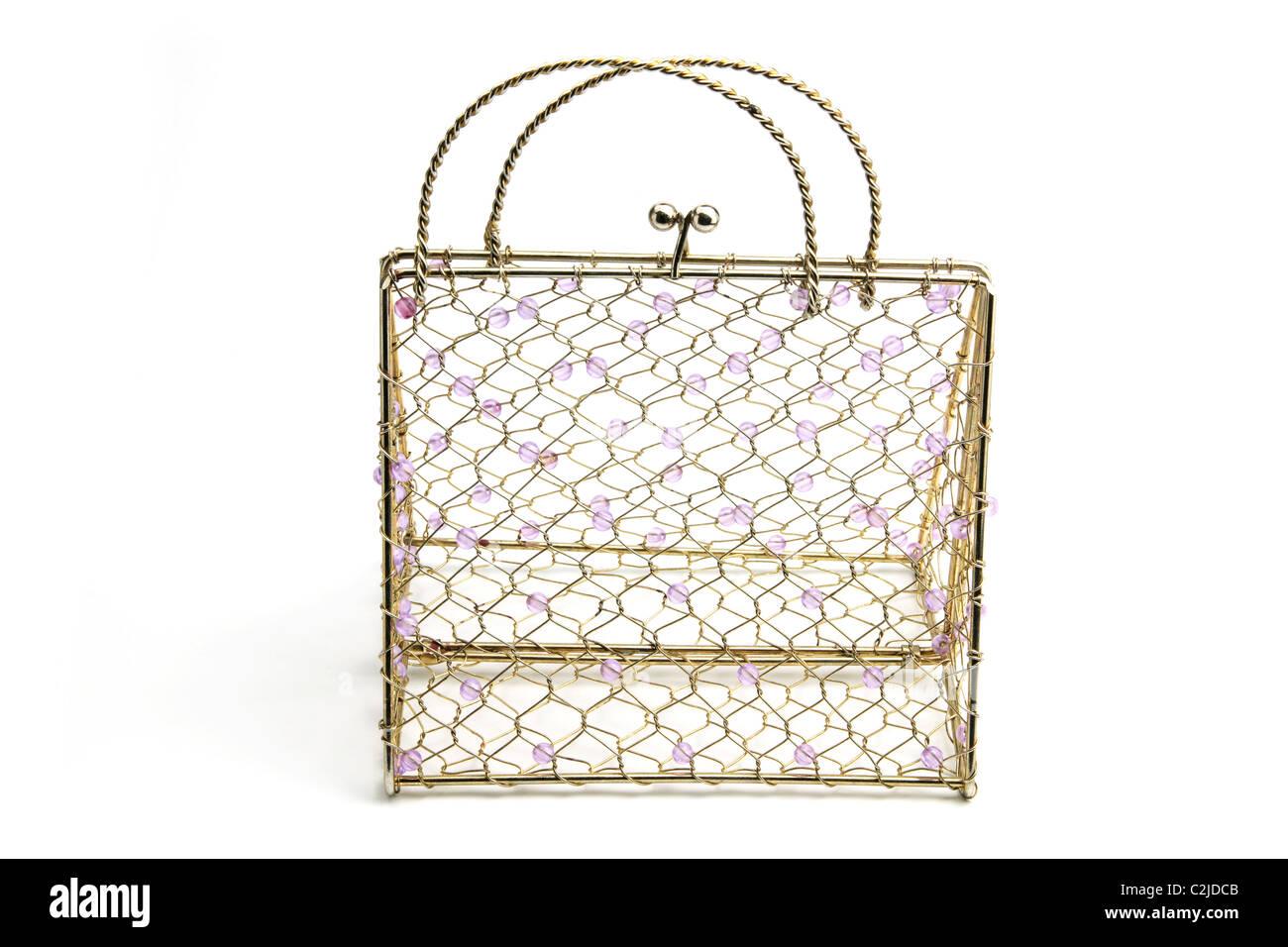 Draht-Handtasche Stockbild