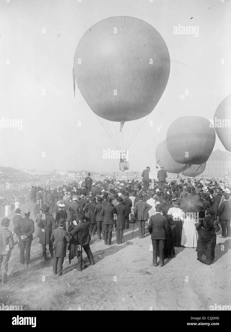 Berlin-Ballon-Wettfahrt Stockbild